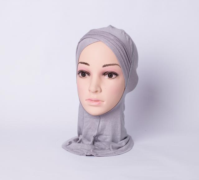 Layered criss cross ninja inner underscarf - Grey