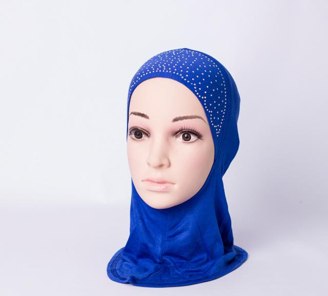 Ninja inner underscarf with rhinestones - Royal-blue