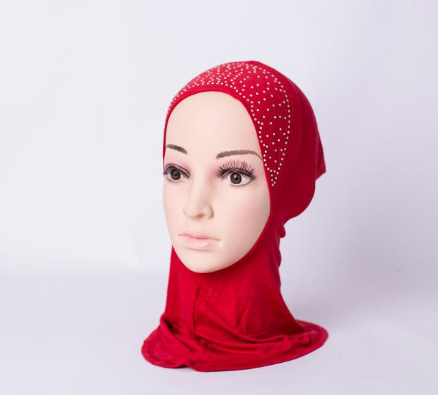 Ninja inner underscarf with rhinestones  - Red
